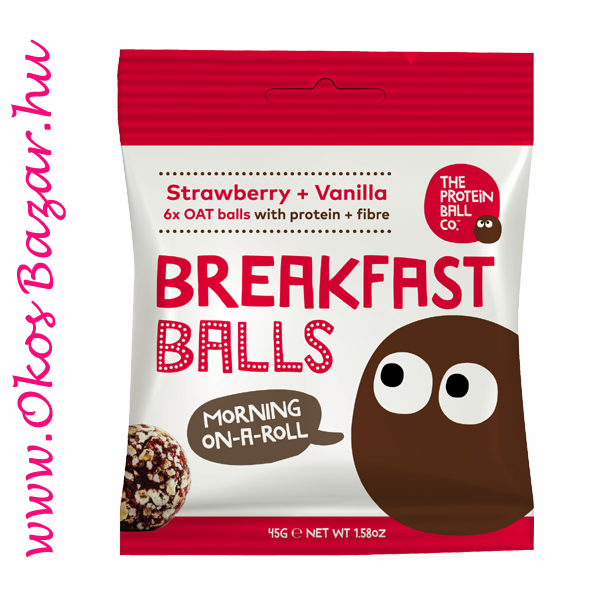 Strawberry Vanilla BreakFast Balls