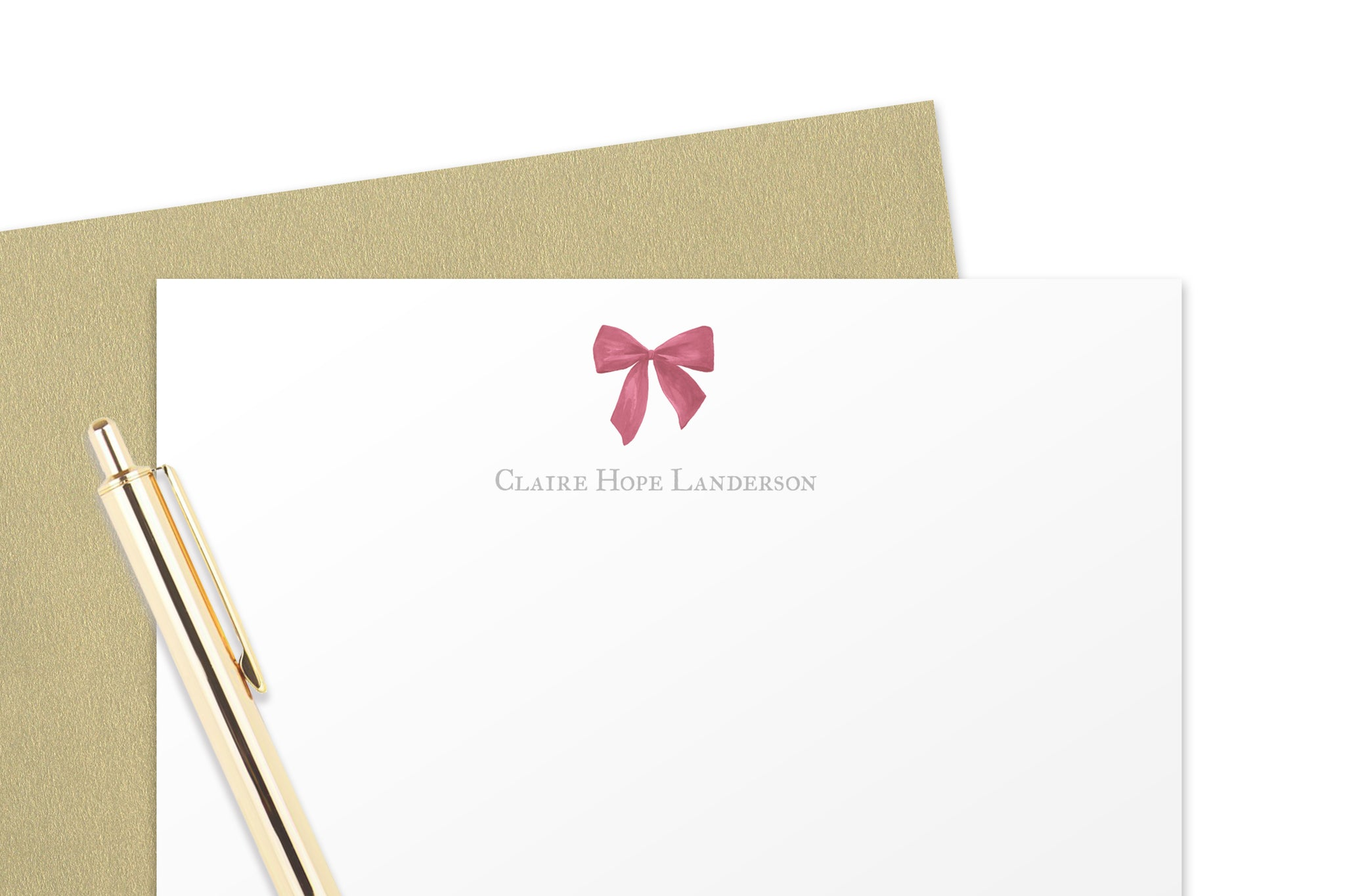 Bow Baby Note Cards