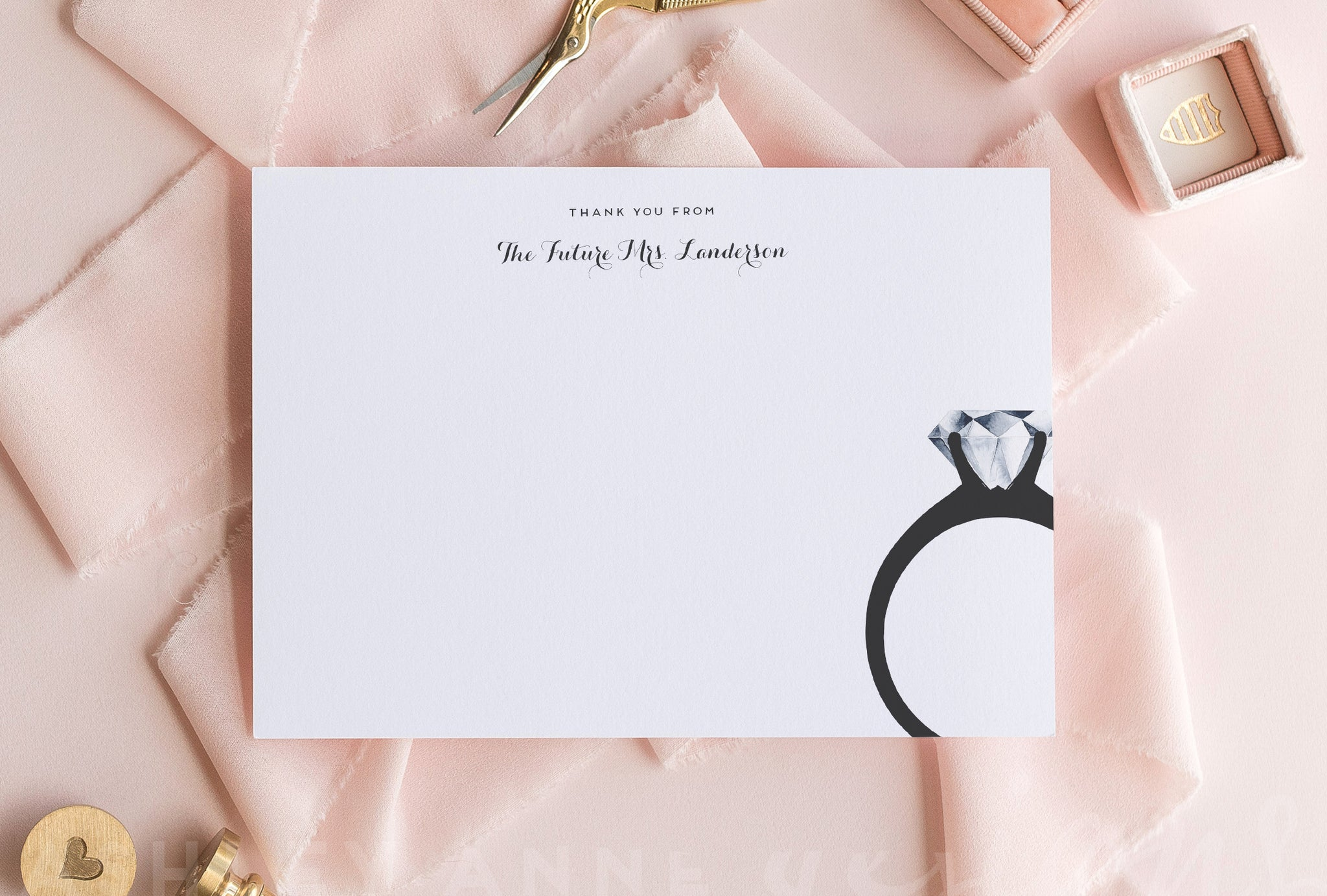 Future Mrs. Thank You Cards