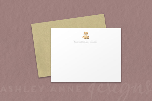 Teddy Bear Baby Note Cards