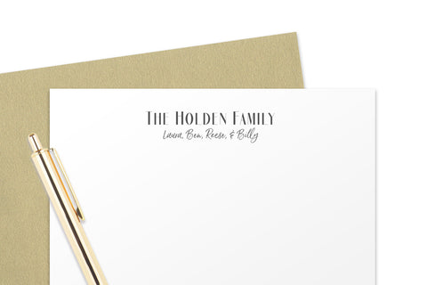 Personalized Family Note Cards - AADFS02