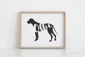 Great Dane Silhouette Pet Art Print