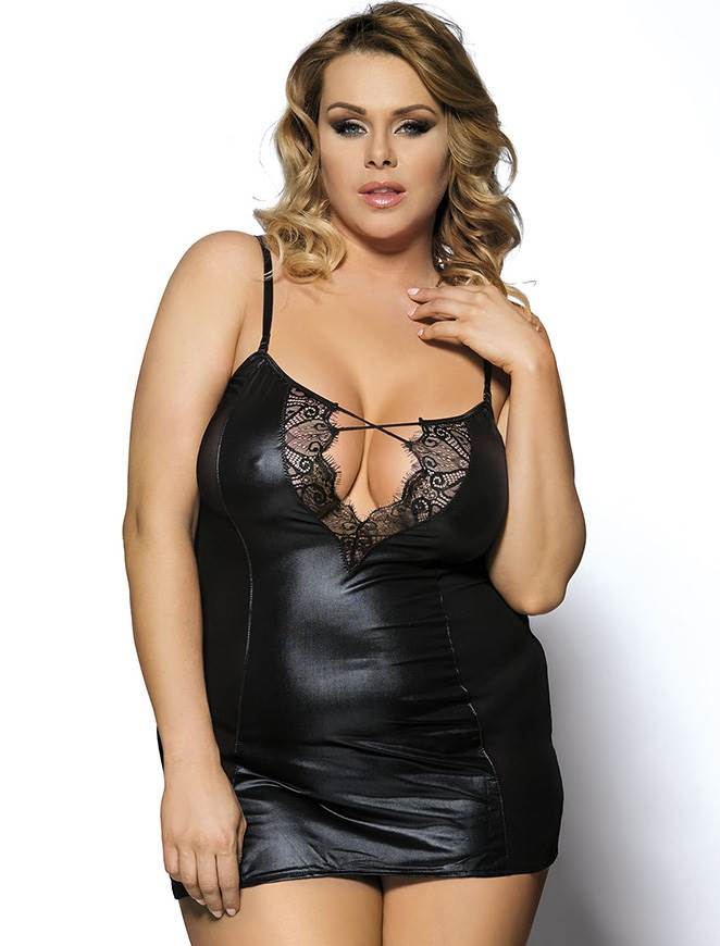 LEATHER AND LACE CHEMISE 70030