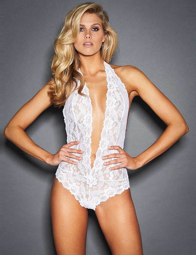 DEEP V LACE TEDDY R80770