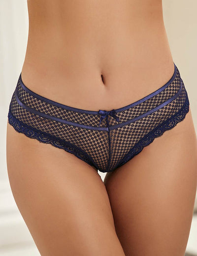 DARK BLUE LACE OUT LADIES PANTY