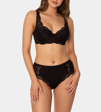 TRIUMPH AMOURETTE CHARM MAXI BRIEF BLACK
