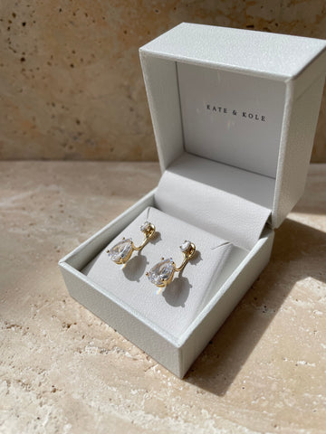 Marquise Diamond Studs with Jackets