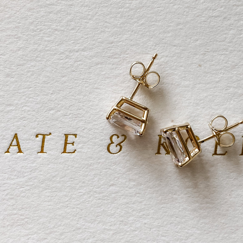 Edie • Radiant Cut Earrings