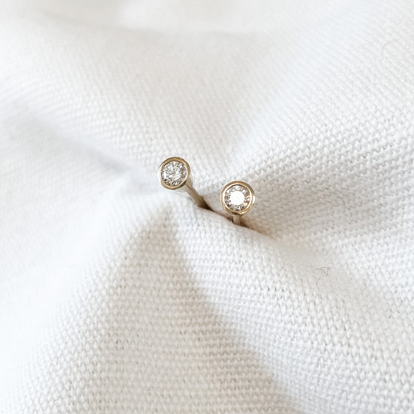 Bezel Set Diamond Studs
