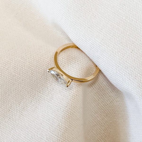 Crescent • Marquise Ring