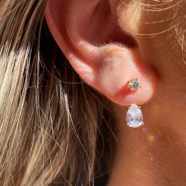 Diamond Studs with Jacket