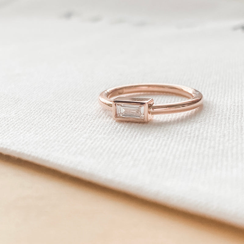Elle • Diamond Baguette Ring
