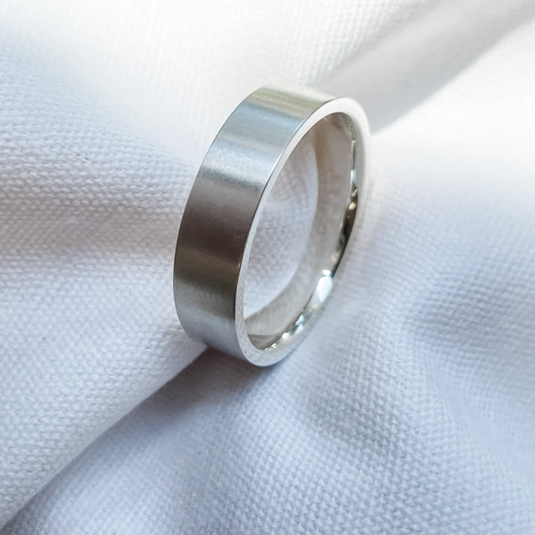 Square Wide Wedding Band