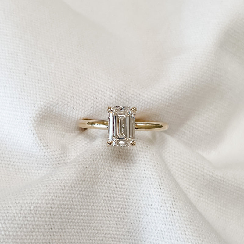 Eva  • Diamond Emerald Cut Engagement Ring