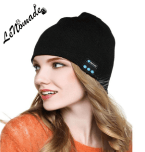Ensemble Bonnet Bluetooth mains libres et Gants Tactiles, Bonnet Bluetooth et Gants Tactiles, LeNomade