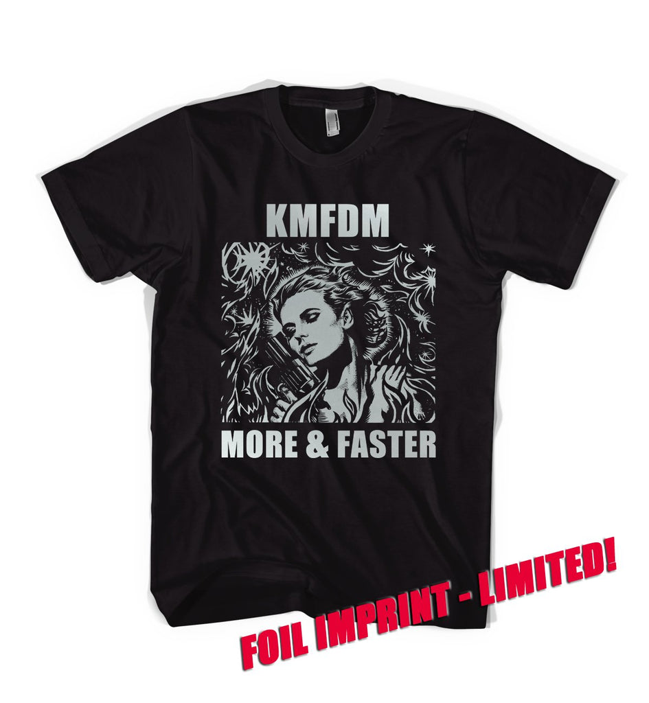 """More & Faster"" SILVER FOIL IMPRINT Tee - Limited!"
