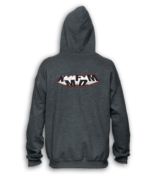 Tumbling Logo Hoodie - Dark Charcoal Heather