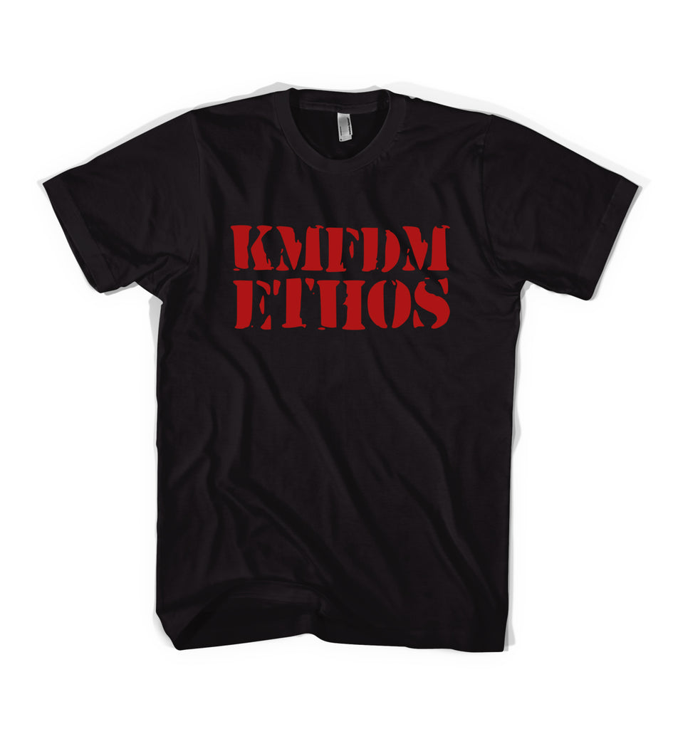 KMFDM ETHOS Tee - Black / Red
