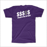 MONEY Tee - PURPLE w/ Metallic Effect - NEW!