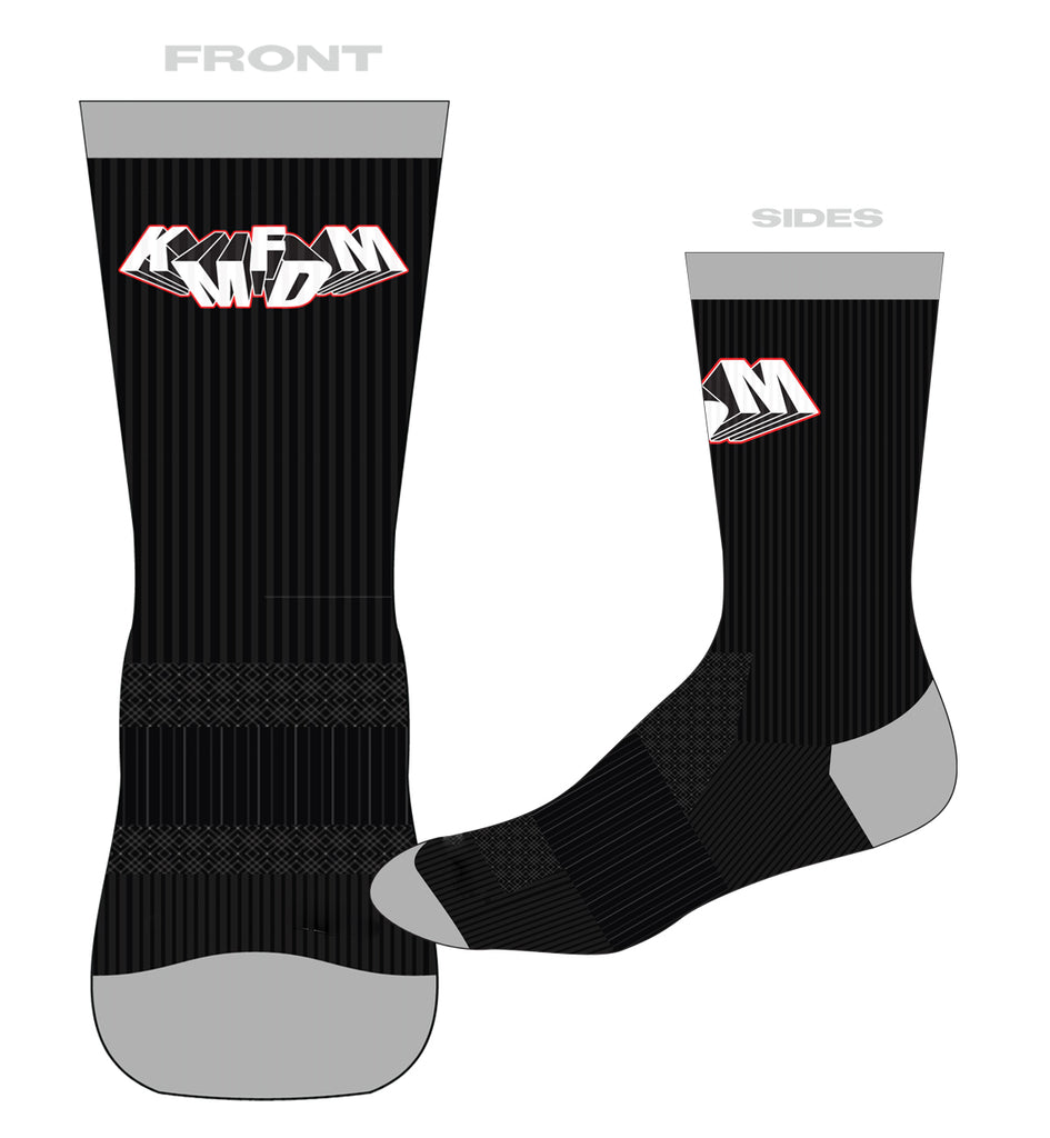 KMFDM Tumbling Logo Socks - NEW