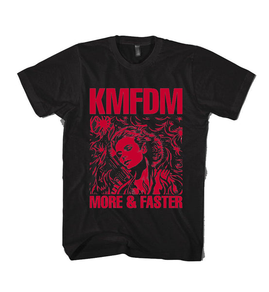 MORE & FASTER Tee - Limited Blood Red!