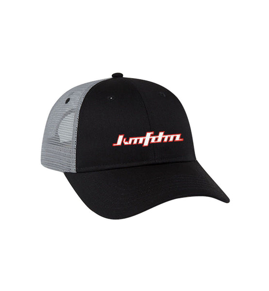 Trucker Cap - Black w/ Grey Mesh