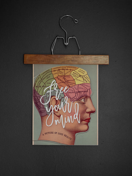 Free Your Mind Phrenology Print