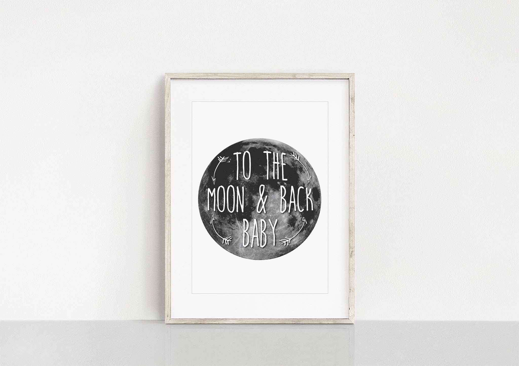 To The Moon & Back Baby Art Print