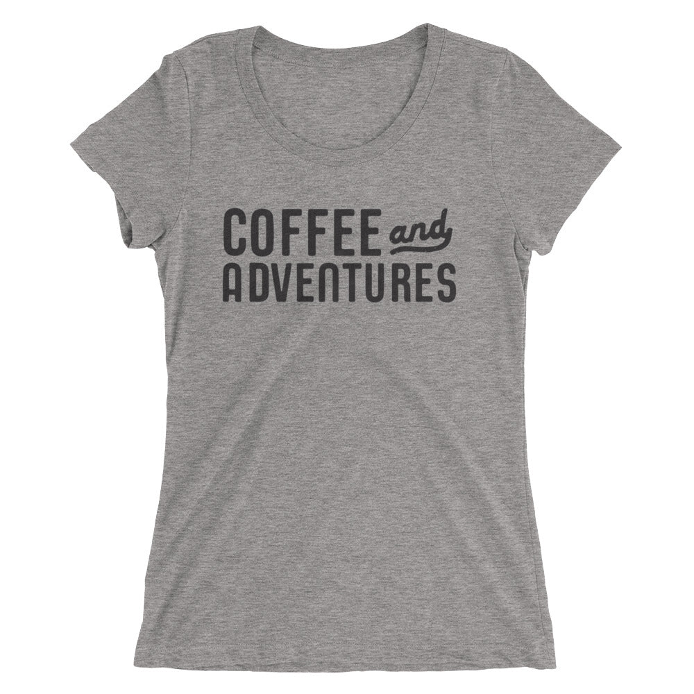 Coffee and Adventures Ladies' short sleeve t-shirt
