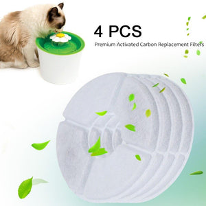 4-Piece Flower Fountain Replacement Activated Carbon Filters-Accessories-Pixie Cheetah-4pcs-United States-Pixie Cheetah