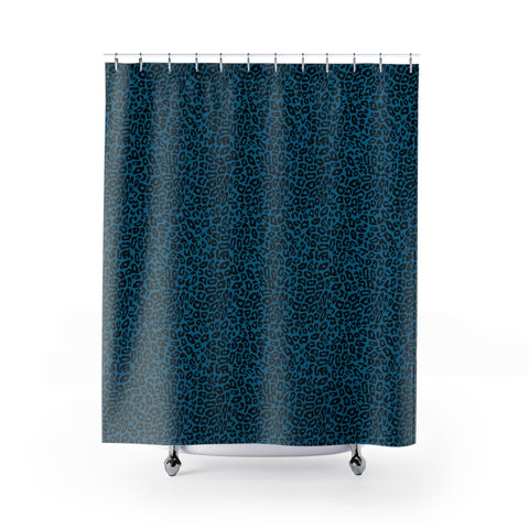 Blue Leopard Shower Curtains-Home Decor-Printify-71x74-Pixie Cheetah