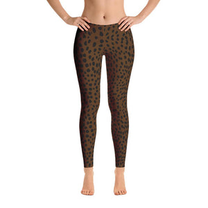 Brown Cheetah Leggings-Leggings-Pixie Cheetah-Pixie Cheetah