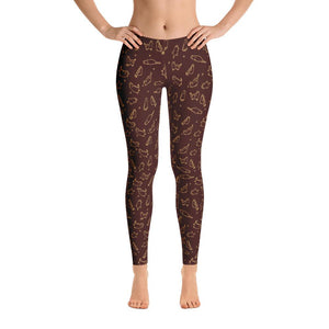 Caramel Kittens Leggings-Leggings-Pixie Cheetah-Pixie Cheetah