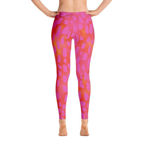 Hot Pink Wild Cat Leggings-Leggings-Pixie Cheetah-XS-Pixie Cheetah