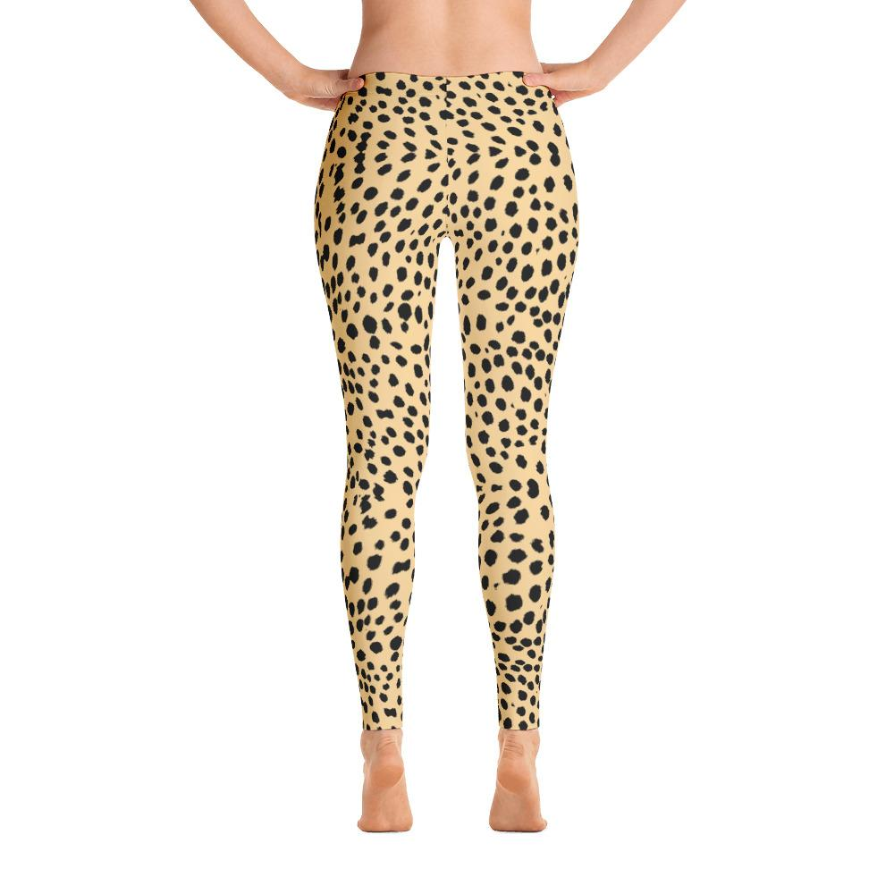 Natural Cheetah Leggings-Leggings-Pixie Cheetah-XS-Pixie Cheetah