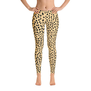 Natural Cheetah Leggings-Leggings-Pixie Cheetah-Pixie Cheetah