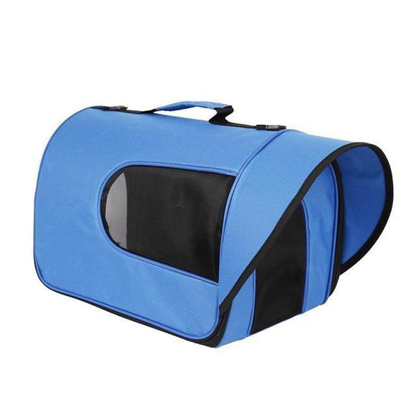 "Small Portable Soft-Sided Single Shoulder Pet Travel Carrier for Cats-Carrier-Pixie Cheetah-Dark Blue-14x10x10""-United States-Pixie Cheetah"