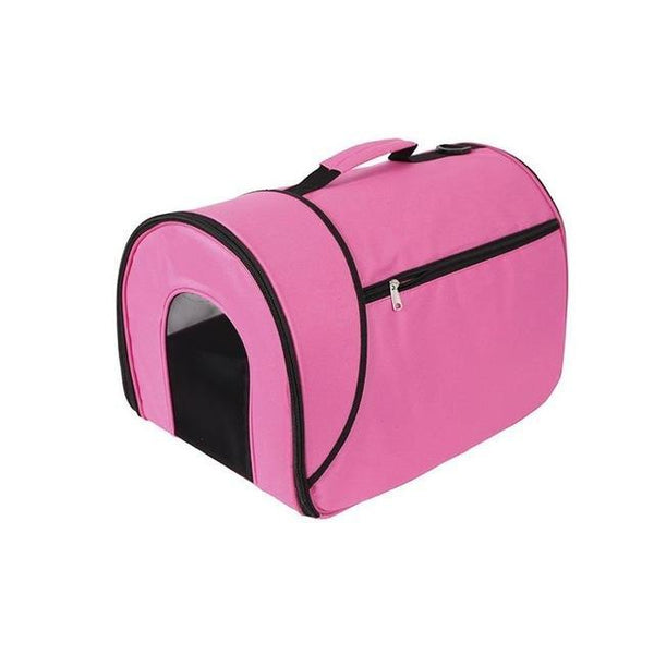"Small Portable Soft-Sided Single Shoulder Pet Travel Carrier for Cats-Carrier-Pixie Cheetah-Pink-14x10x10""-United States-Pixie Cheetah"