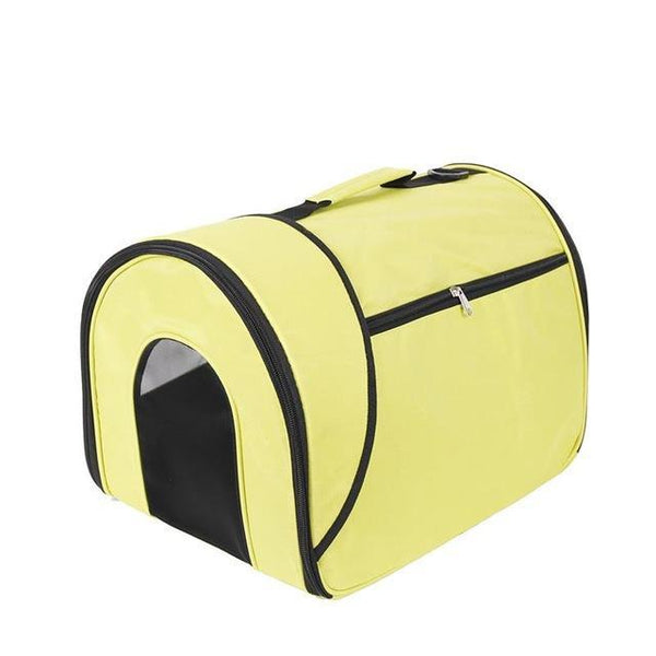 "Small Portable Soft-Sided Single Shoulder Pet Travel Carrier for Cats-Carrier-Pixie Cheetah-Yellow-14x10x10""-United States-Pixie Cheetah"