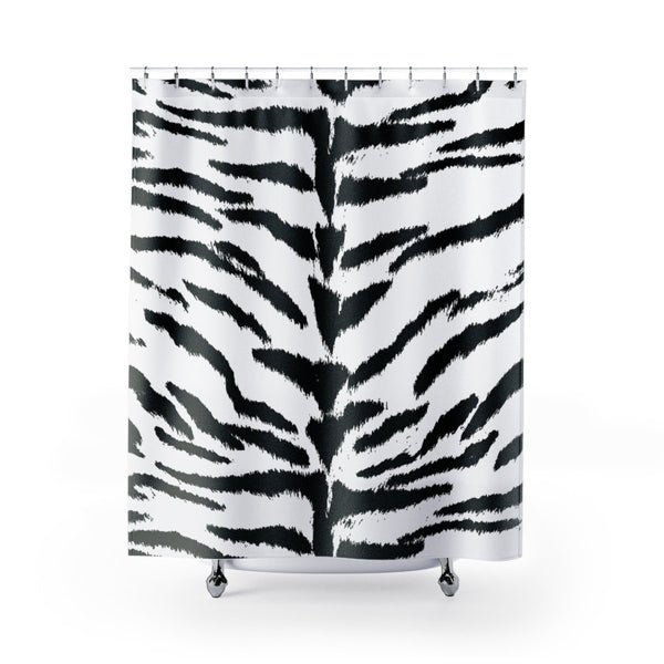 White Tiger Shower Curtains-Home Decor-Printify-71x74-Pixie Cheetah