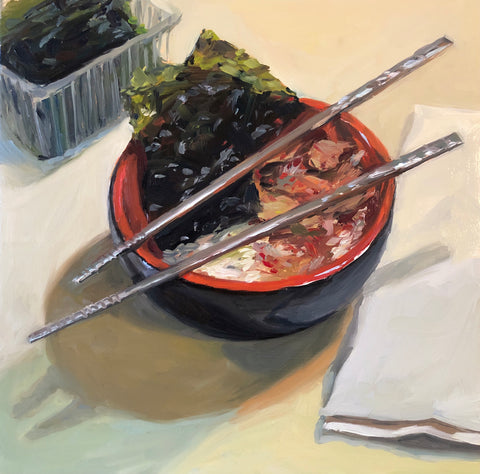 Kimchi and Rice - Original Oil Painting