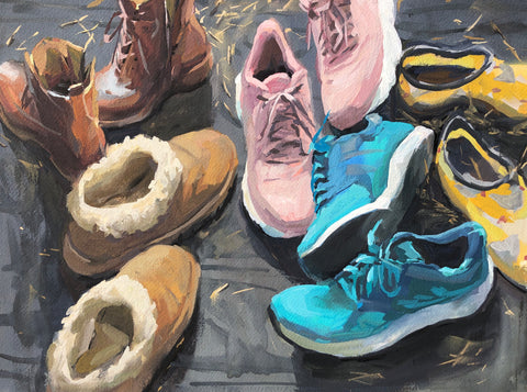 Shoes - Original Gouache Painting