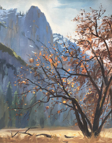 Yosemite Complements - Original Gouache Painting