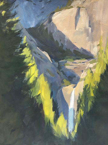 Lower Falls - Original Gouache Painting