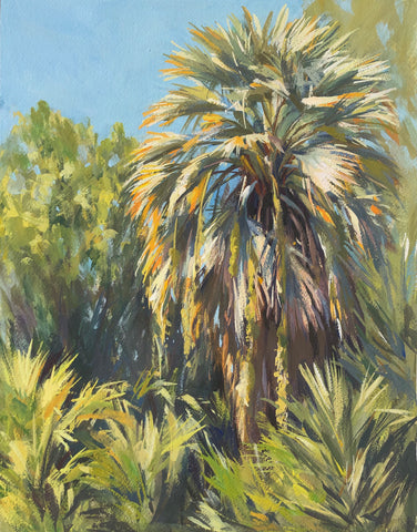 Dusty Palm - Original Gouache Painting