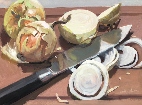 Onion Layers - Original Gouache Painting