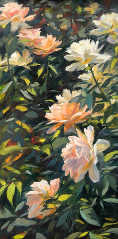 Roses at Heather Farm Gardens - Original Oil Painting