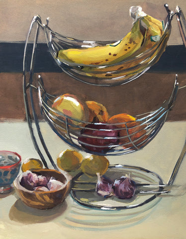 Fruit Basket - Original Gouache Painting