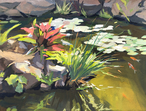 Lily Pad Afternoon - Original Gouache Painting