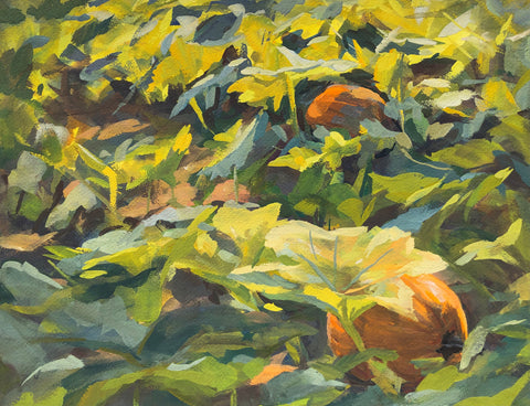 Pumpkin Patch - Original Gouache Painting